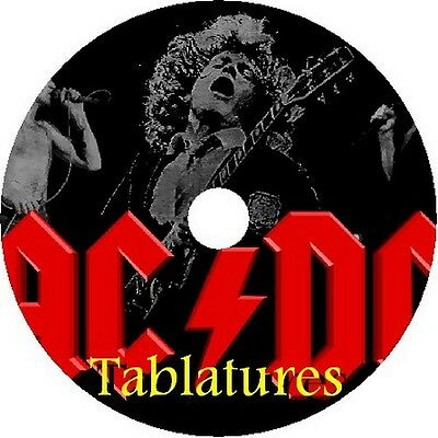 Ac/dc Bass & Guitar Tabs Tablature Software Cd Best Of Greatest Rock Hits