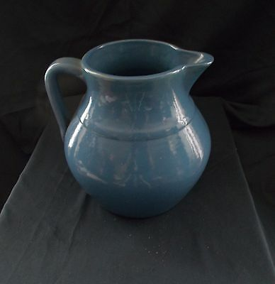 Vintage UHL Pottery Blue Stoneware Pitcher Excellent Condition Sent w/Tracking #