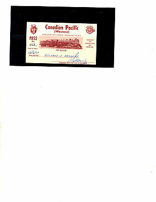Canadian Pacific Railroad Pass (Item 1752)