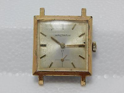 Vintage Waltham 17 Jewel Manual Wind Movement Watch Square Case