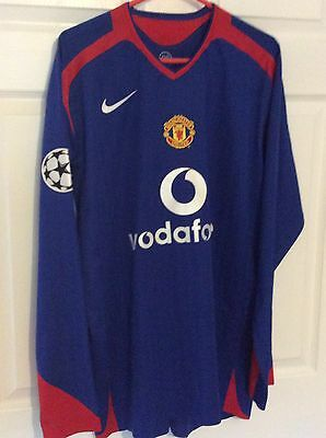 2005 Match Worn Player Issue Manchester United Shirt