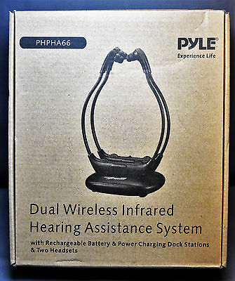 Pyle-Home PYLPHPHA66 Clear Sound Dual TV Wireless Hearing-Assistance System