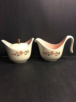 Unmarked Mid-century Pink Sugar And Creamer Set Taylor Smith?