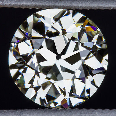 INTERNALLY FLAWLESS 1.37ct GIA CERTIFIED OLD EUROPEAN CUT DIAMOND L IF VINTAGE