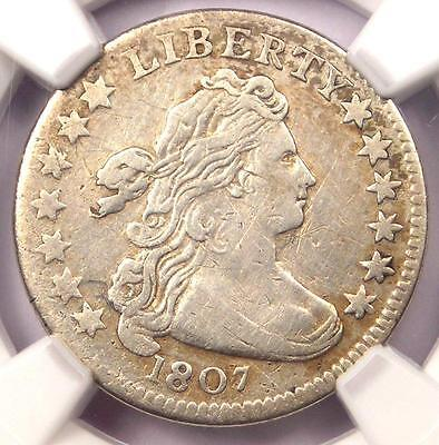 1807 Draped Bust Dime 10C Coin JR-1 - Certified NGC VF Details - Rare - Near XF!