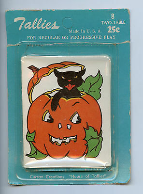 Vintage Halloween Tally cards - Black Cat and Jack O'Lantern