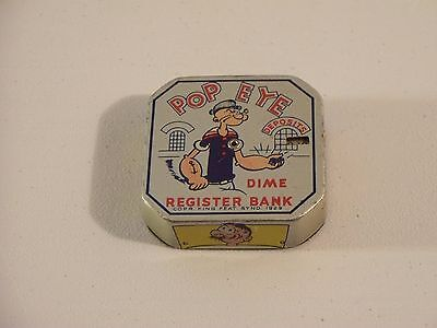 Popeye Dime Register Bank Tin Litho King Feat Synd 1929 Very Neat