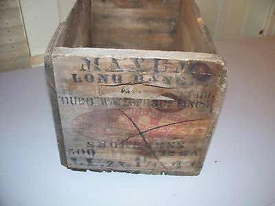 Cil Ammunition Or Shotgun Shell Wooden Box Or Ammo Crate Weathered Condition