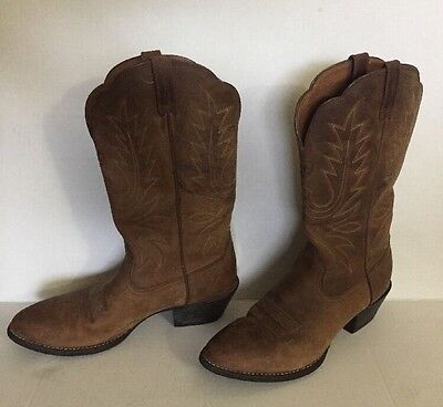 Ariat Boots Heritage Western Brown Round Toe 10001021 (15725) Women's Size 8.5