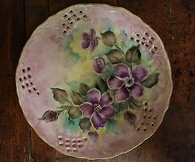 Hand painted wall hanging plate 16cm diameter