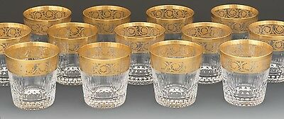 6 Available Saint Louis Thistle Double Old Fashioned Glass