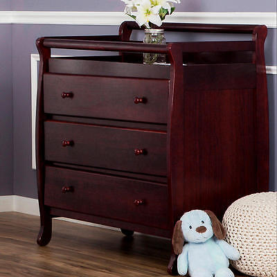 Dream On Me Liberty 3 Drawer Changing Table - Cherry