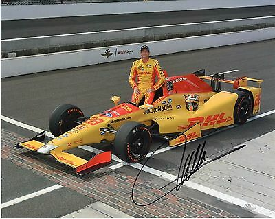 Ryan Hunter-Reay autographed 2017 Indy 500 8x10 photo