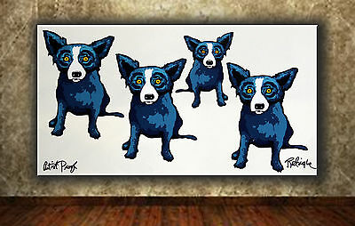 """Animals Art DOG Oil Painting Print On Canvas Wall Home Decor 8""""x16"""""""