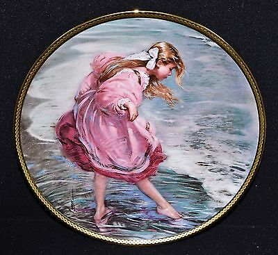 Alan Murray SIGNED Collectors Plate HEART OF A CHILD Girl Playing in Ocean NIB