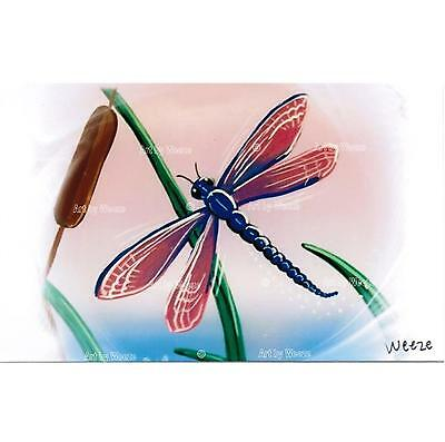 Dragonfly Art Print Pink and Blue Dragonflies Picture