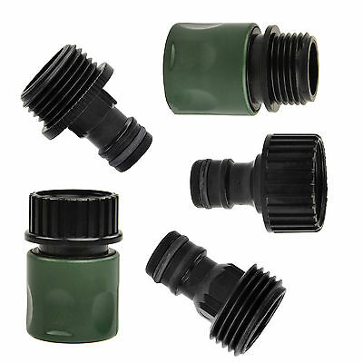 5x 3/4inch Garden Hose Quick Connect Set Kit Plastic Hose Tap Adapter Connector~