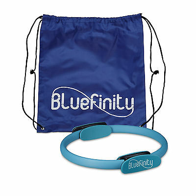 Pilates Resistance Ring, ca 39 cm, with Double Handles, Padded, for Yoga, Blue
