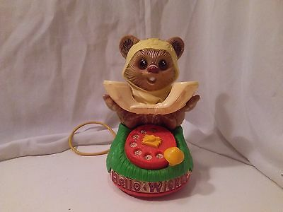 "Vintage Kenner 1984 Star Wars ""Hello Wicket"" Ewok Talking Play Telephone"