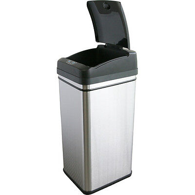 iTouchless Deodorizer Filtered Infrared Sensor Automatic Touchless Trash Can, 1