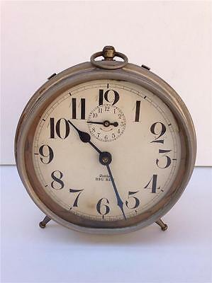 Antique Westclox Big Ben Wind-Up Alarm Clock For Repair