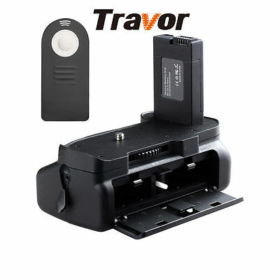 Travor Battery Grip for Nikon D5300 D5200 D5100 Camera w/ Gift IR Remote Control