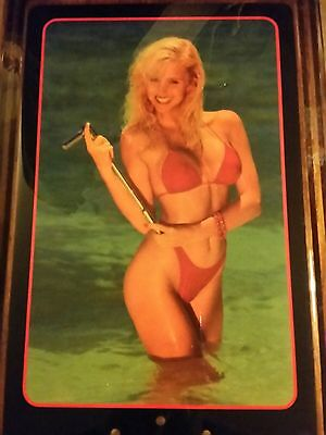 Vintage Snap-On Tools Advertising Pin-Up Girl Wall Clock 1980's Man Cave Art