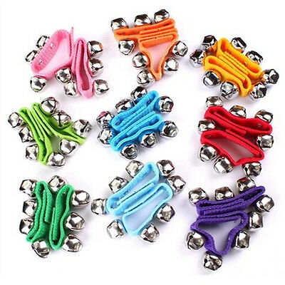 1PC Nylon Perscussion Instrument Wrist Bellls Ankle Rattles Ring Bracelet Toy