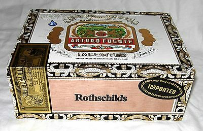 Arturo Fuente Rothschilds Natural Select Long Wood Cigar Box Tobacco Handcrafted