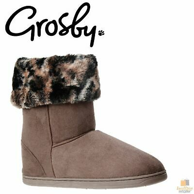 GROSBY Invisible Sabrina Hoodies Plush Womens Slippers Boots Indoor Fluffy Shoes
