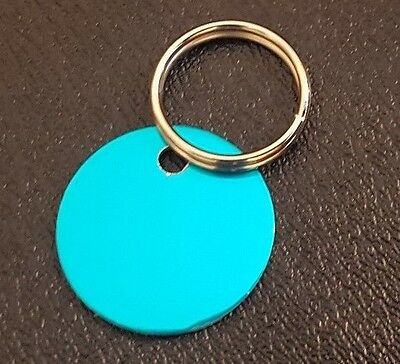 32mm Personalised Pet Tag, Name ID Disc for Dog  Engraved for Maximum Wear.