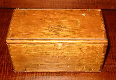 Antique Wood Puzzle Folding Box Patented 1889 Sewing Machine Parts