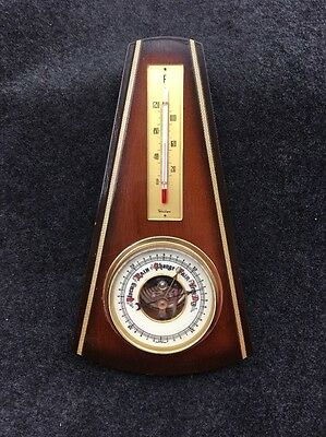 Vintage Barometer And Thermometer, Techritherm, Made In Western Germany
