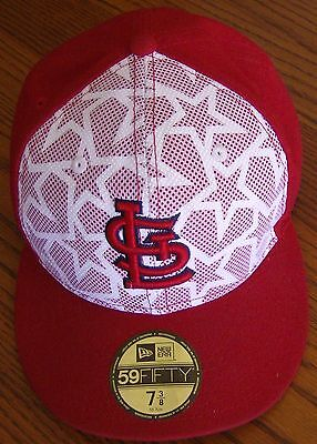 St. Louis Cardinals New Era Stars   Stripes 59FIFTY Fitted Hat - White Red f361bcc18db