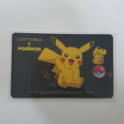 Lotteria Pokemon Pikachu Limited Edition Gift Card Charge Card