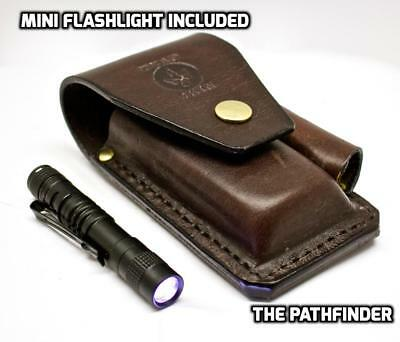 Leather sheath plus torch FOR leatherman Surge-Charge-Wave Multitools Handmade