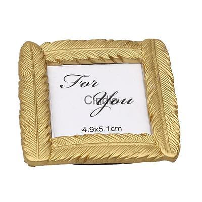 Small Golden Feather Photo Frame Picture Display Holder Xmas Decoration