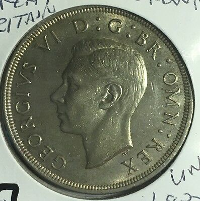 Great Britain 1937 Crown Silver Coin