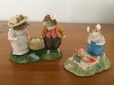 Brambly Hedge Classic Collectibles BHF15 & BHF8 SIGNED Jill Barklem