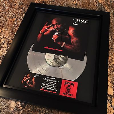 Tupac Shakur 2Pac All Eyez On Me Platinum Record Disc Album Music Award RIAA