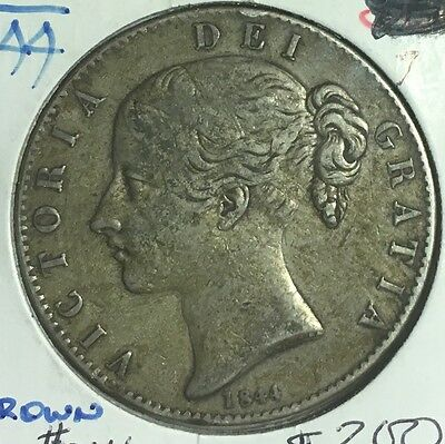 Great Britain 1844 Crown Coin