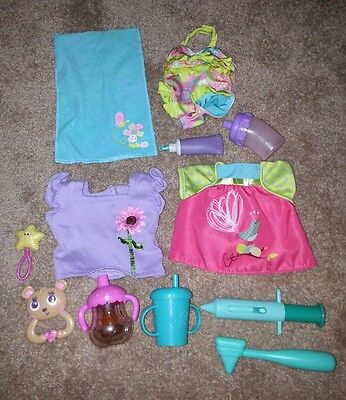 Baby Alive Doll Dress Swimsuit Towel Rattle Bottle Sippy Toothpaste