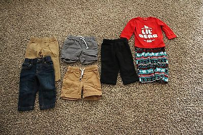 21 Piece Infant Boy Clothing Lot Sizes 12, 18, and 24 Month