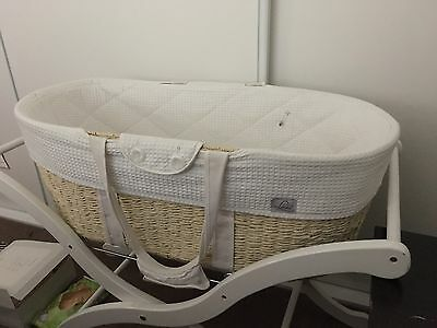 Lil baby Moses Basket Baby Carrier- White Used