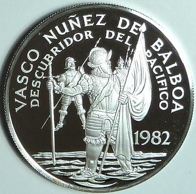 Panama 1982 20 Balboas, Gem Deep Cameo Proof, only 2,352 made