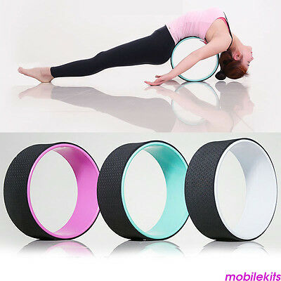 Yoga Wheel Balance Support TPE Cushion Backbends Prop Poses Stretching Tool