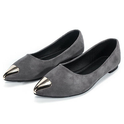 Women Ballet Flats Shoes Casual Comfort Slip On Boat Loafers Shoes US 7.5