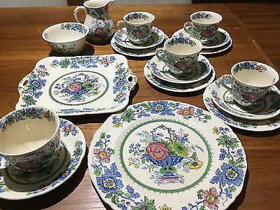 "Mason's ""Strathmore"" Pattern Tea Set Plus Extras"