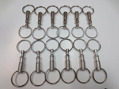 Lot 12 Detachable Pull Apart Quick Release Keychain Key Rings/ US Free Shipping