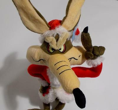 Wile Coyote Santa Plush Christmas Looney Tunes Stuffed Animal 16""